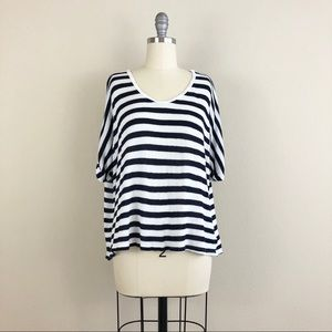 Soft Joie Bingley Striped Short Sleeve Sweater